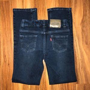Girls Levi dark wash jeans